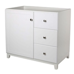 White Bathroom Vanity Cabinet 30 x 21 inch with Nickel Hardware