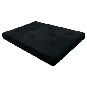 Full-size 6-inch Thick Futon Mattress with Black Microfiber Futon Cover