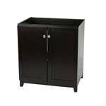 Espresso Bathroom Vanity Cabinet 30 x 21 inch - Top Sold Separately