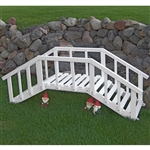 Decorative 6.5-ft White Wood Garden Bridge with Rails in Durable Aspen Hardwood