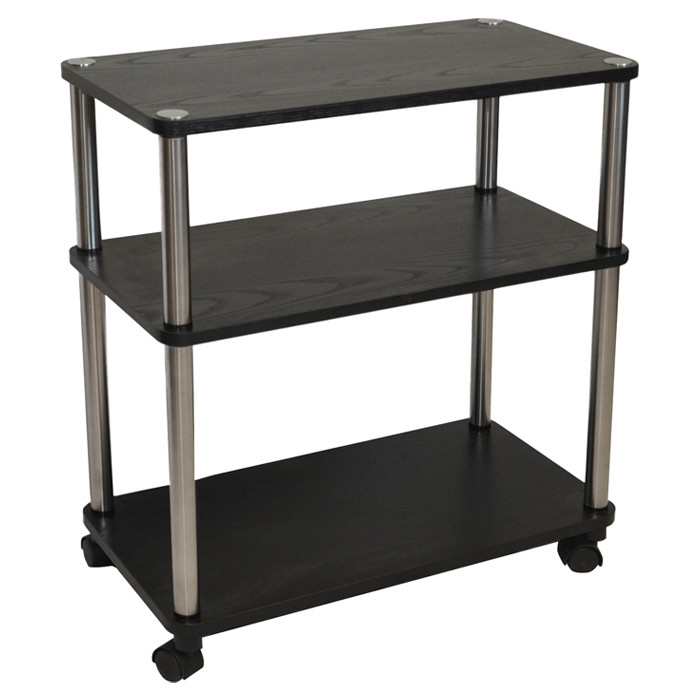 3 Shelf Mobile Home Office Caddy Printer Stand Cart in  : DTGC4516 2 Desk Chair <strong>Casters</strong> from www.fastfurnishings.com size 700 x 700 jpeg 107kB