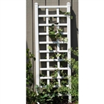 6.25 Ft Wall Trellis in White Vinyl - Made in USA