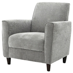 Modern Upholstered Arm Chair with Premium Foam Cushion Seating in Charcoal