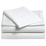 California King size 400 Thread Count Cotton Sheet Set in Eggshell