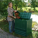 Outdoor Composting 110-Gallon Composter Recycle Plastic Compost Bin - Green