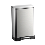 Stainless Steel 10.5 Gallon Kitchen Trash Can with Step Pedal No Hands Lid