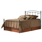 Queen size Metal Bed with Headboard and Footboard in Matte Black