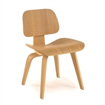 Plywood Modern Classic Dining Chair with Gently Curved Legs