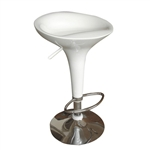 Razzle Ice Cream Scoop Style Modern Bar Stool Chair in White