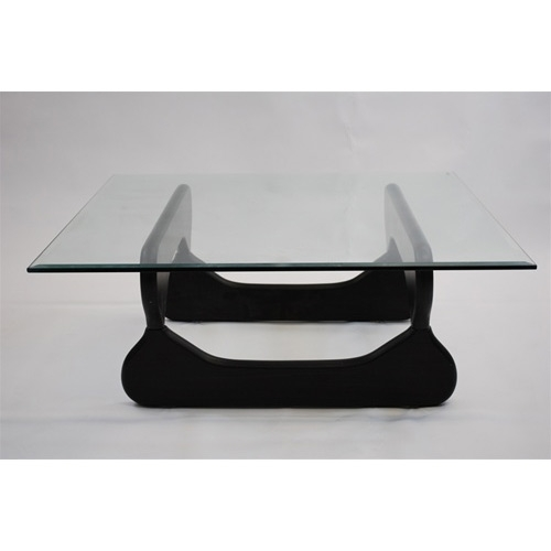 "Square Coffee Table Tempered Glass: Guchi Modern Coffee Table With 39"" Square Tempered Glass"
