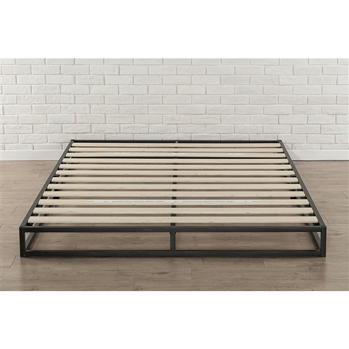 Full Size 6 Inch Low Profile Metal Platform Bed Frame With