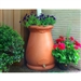2-in-1 Terra Cotta 65-Gallon Rain Barrel Urn and Planter