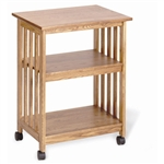 Golden Oak Kitchen Microwave Cart