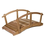 8-Ft Garden Bridge in Western Red Cedar - Natural Unstained Finish