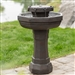 Hexagon Outdoor Water Fountain Bird Bath with Solar Pump