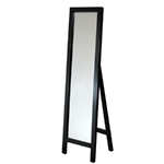 Contemporary Free-standing Floor Mirror in Espresso Wood Finish