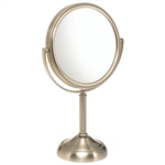 Small Round Table Top Vanity Mirror - 10X Magnification