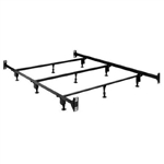 King size Metal Bed Frame with Headboard Footboard Brackets