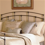 King size Arch Metal Headboard in Black Walnut Metallic Finish