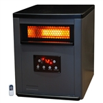 Infrared Space Heater w/ Remote 5,200 BTUs Heat Two Tone Fireproof Cabinet