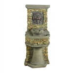 Indoor / Outdoor Water Fountain with Bronze Hued Lion Head