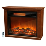 Infrared Electric Fireplace Space Heater 1500-watt Medium Oak Finish