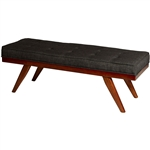 Mid-Century Style 51-inch Accent Bench in Cherry Wood Finish