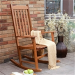 Indoor/Outdoor Natural Slat Rocking Chair