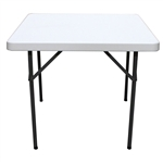 Square 36-inch Folding Table with Gray HDPE Plastic Top