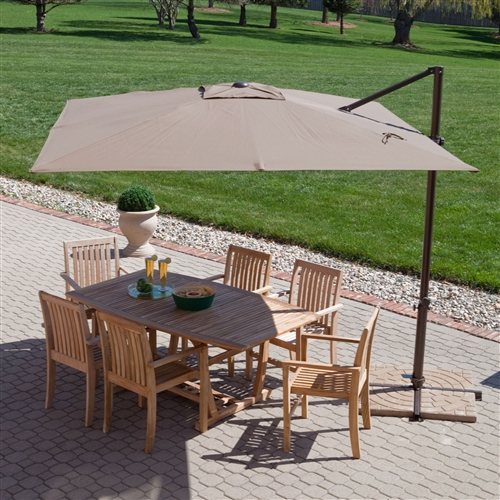 Modern 8 5 Ft Offset Cantilever Square Patio Umbrella With