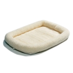 36 x 23 inch Synthetic Sheepskin Fleece Dog Bed - Medium size Dogs