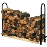 Adjustable Length Firewood Log Rack for Indoor or Outdoor Use