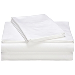 California King 400 TC Cotton Sheet Set in White