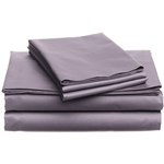 CAL King 400 Thread Count Cotton Sheet Set in Plum Purple