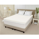 Queen size 3-inch Thick Ventilated Memory Foam Mattress Topper