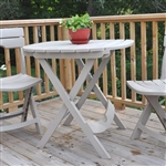 Folding Patio Table in Desert Clay Color Outdoor Resin - Made in USA