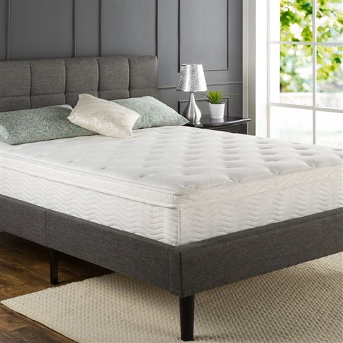 Queen size 12-inch Thick Euro Box-Top Innerspring Mattress