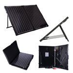 100 Watt Folding Solar Suitcase Batter Charger