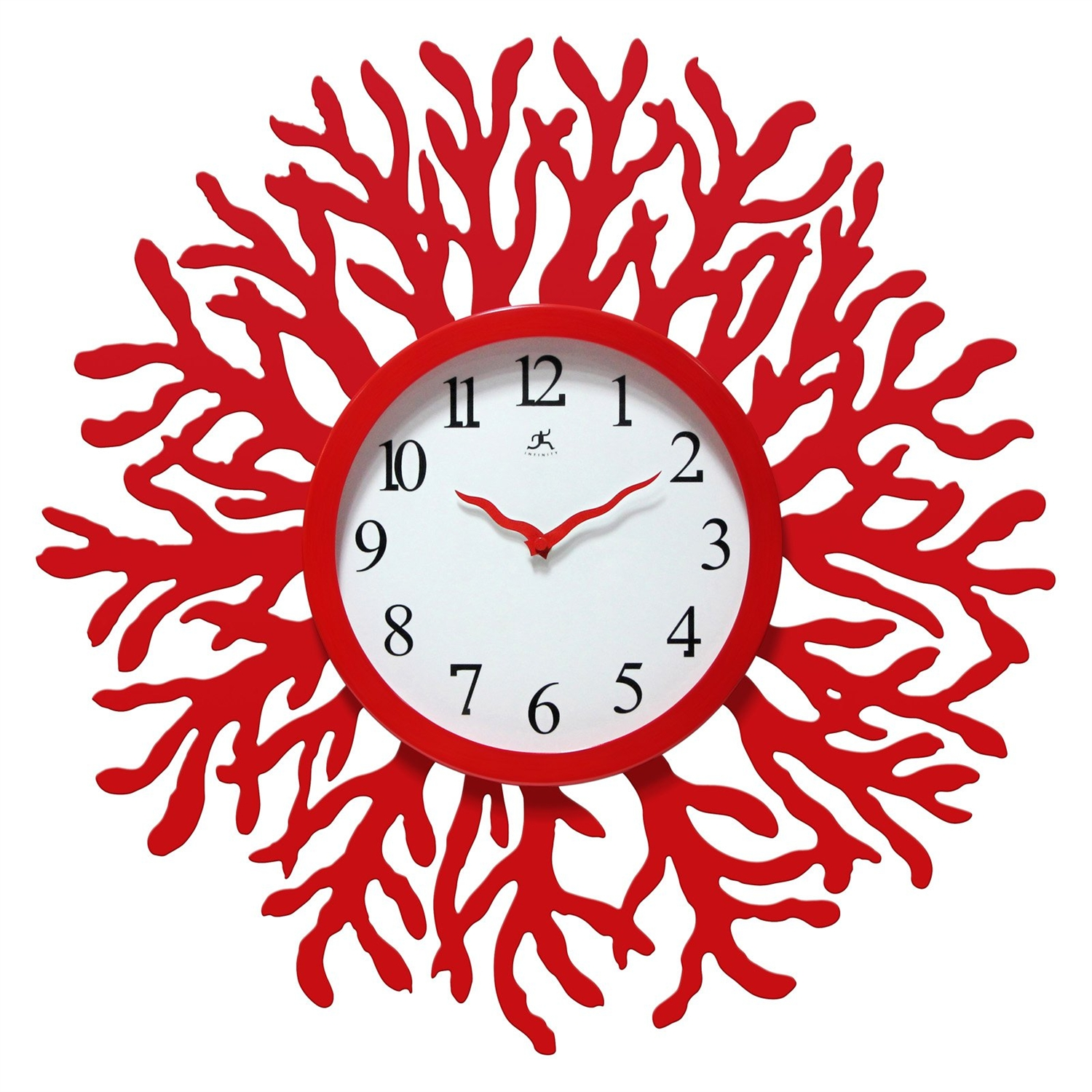 Red coral reef modern wall clock ocean beach theme 22 inch red coral reef modern wall clock ocean beach theme 22 inch diameter amipublicfo Images