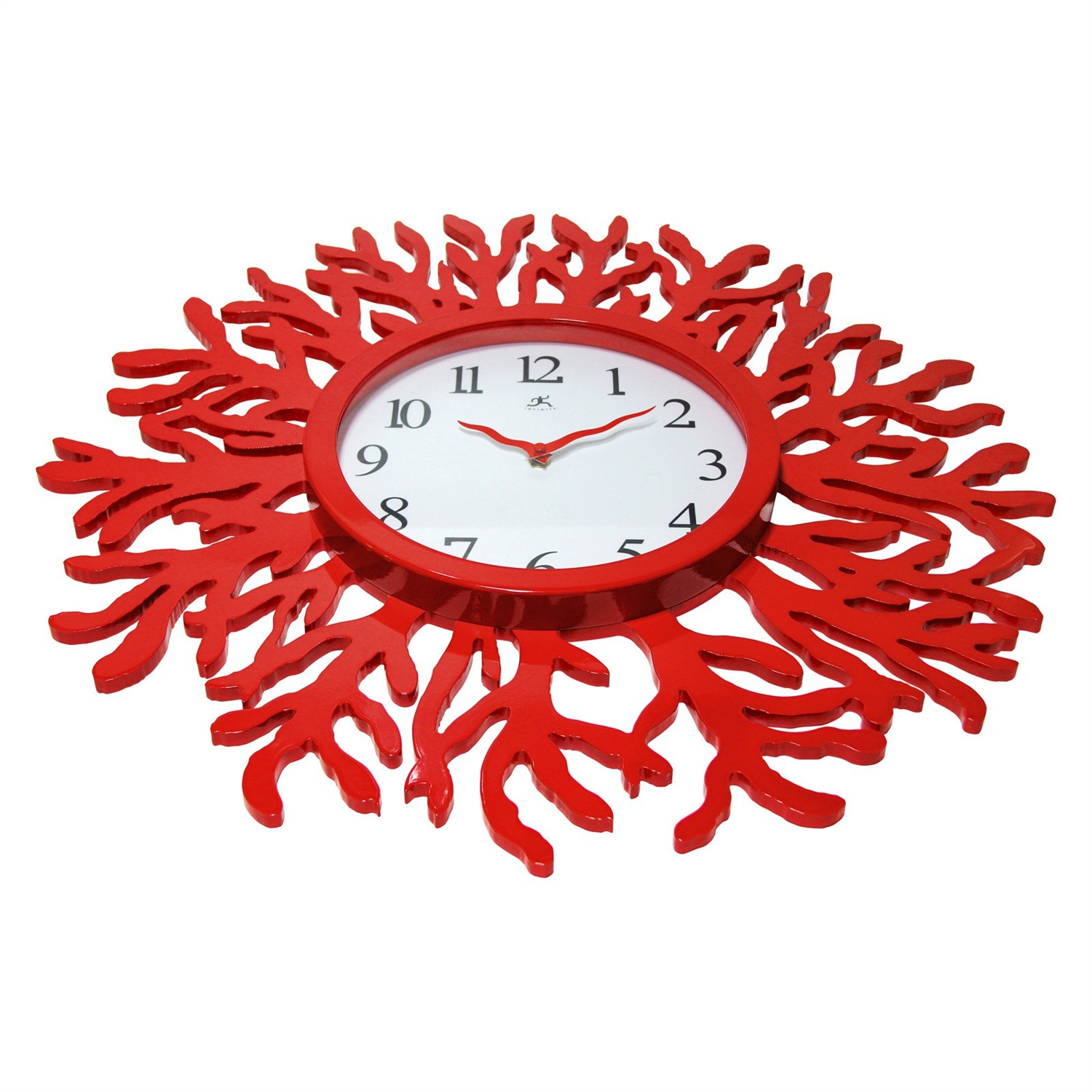 Red coral reef modern wall clock ocean beach theme 22 inch retail price 16900 amipublicfo Images