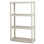 Heavy Duty Plastic 4-Shelf Storage System Shelves