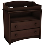 Baby Furniture 2 Drawer Diaper Changing Table in Espresso