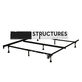Heavy Duty 7-Leg Metal Bed Frame - Fits Sizes Twin, Full, & Queen