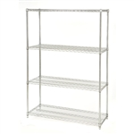 48-inch Wide 4-Shelf Metal Storage Shelving Unit - 72-inch High