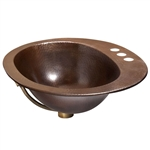 Copper Oval Bathroom Sink 20 x 16 inch