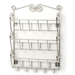 Metal Wall Mount Letter Holder Organizer in Satin Nickel Finish