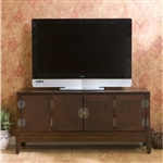 Oriental Style Entertainment Center in Espresso Finish