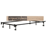 Heavy Duty 6-Leg Twin / Full Metal Bed Frame with Rug Rollers