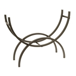Crescent Tubular Steel Metal Firewood Log Storage Rack