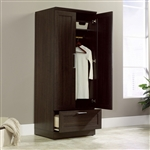 Bedroom Wardrobe Armoire Cabinet in Dark Brown Oak Wood Finish
